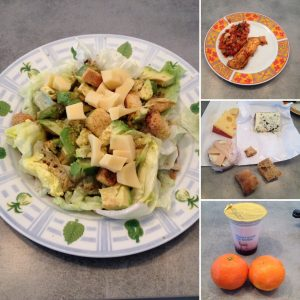 Déjeuner préparatoire à la journée de jeûne : léger mais avec quelques entorses aux recommandations...